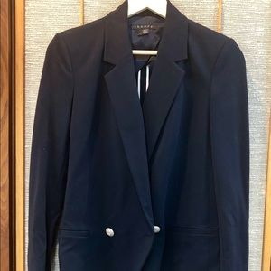 Theory Blazer - Navy w/ Gold Accent Buttons